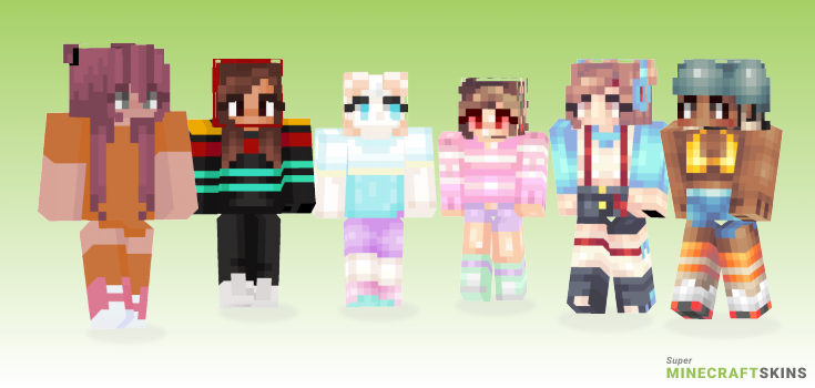80s Minecraft Skins - Best Free Minecraft skins for Girls and Boys