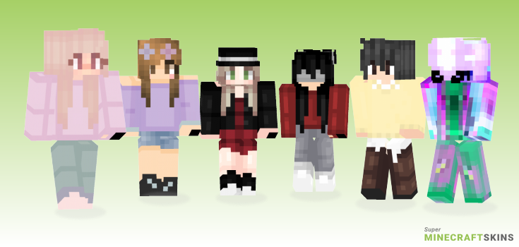 Again Minecraft Skins - Best Free Minecraft skins for Girls and Boys