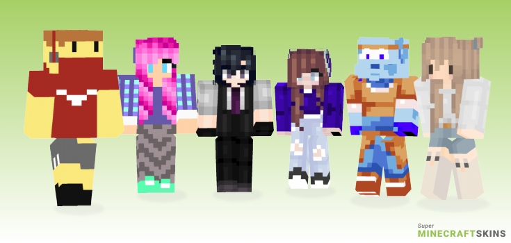 Anime Minecraft Skins - Best Free Minecraft skins for Girls and Boys