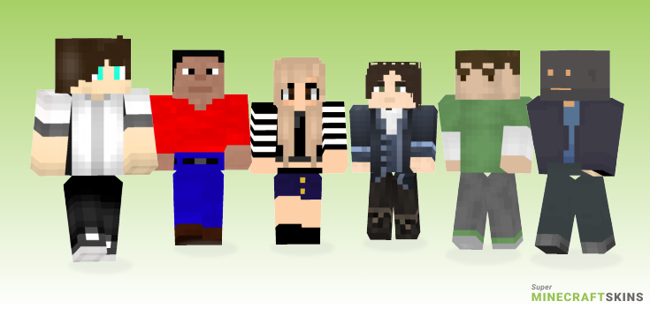Average Minecraft Skins - Best Free Minecraft skins for Girls and Boys