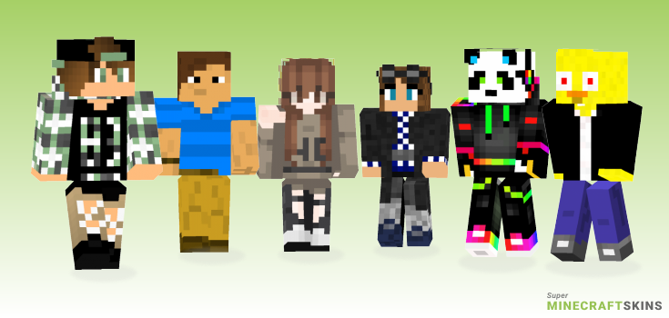 Awesome Minecraft Skins - Best Free Minecraft skins for Girls and Boys