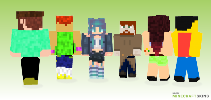 Backwards Minecraft Skins - Best Free Minecraft skins for Girls and Boys