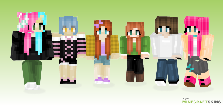 Bagged Minecraft Skins - Best Free Minecraft skins for Girls and Boys