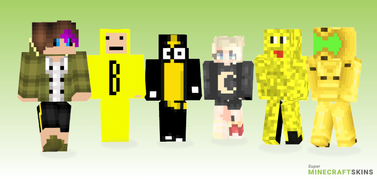 Banana Minecraft Skins - Best Free Minecraft skins for Girls and Boys