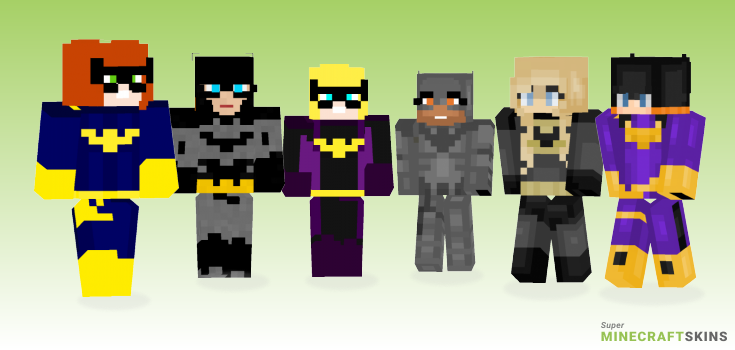 Batgirl Minecraft Skins - Best Free Minecraft skins for Girls and Boys
