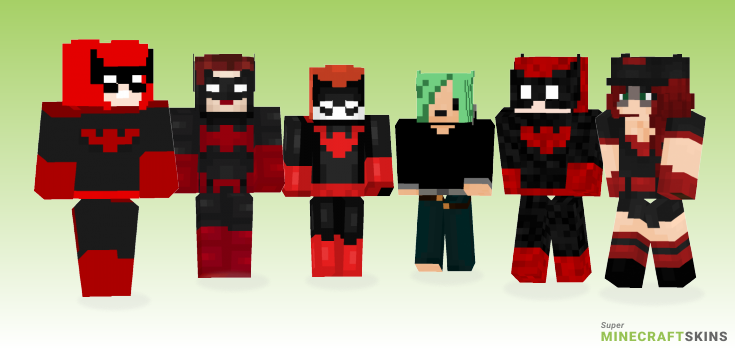 Batwoman Minecraft Skins - Best Free Minecraft skins for Girls and Boys