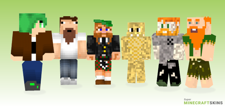 Bearded Minecraft Skins - Best Free Minecraft skins for Girls and Boys