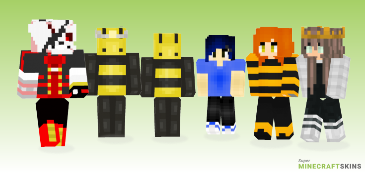 Bee Minecraft Skins - Best Free Minecraft skins for Girls and Boys