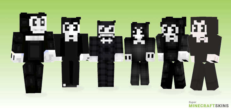 Bendy Minecraft Skins - Best Free Minecraft skins for Girls and Boys