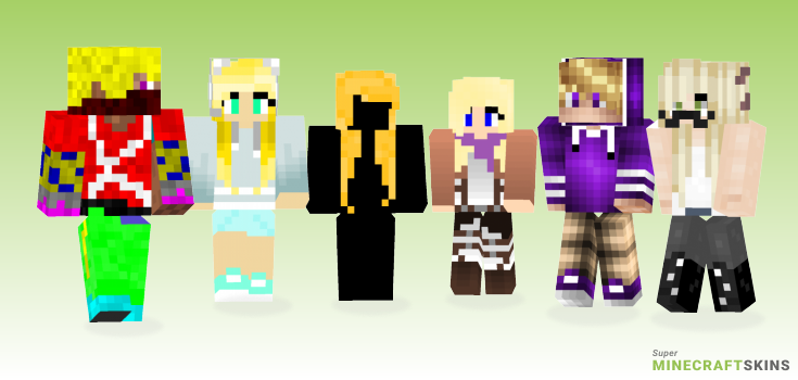 Blond Minecraft Skins - Best Free Minecraft skins for Girls and Boys