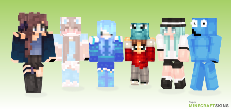 Bloo Minecraft Skins - Best Free Minecraft skins for Girls and Boys