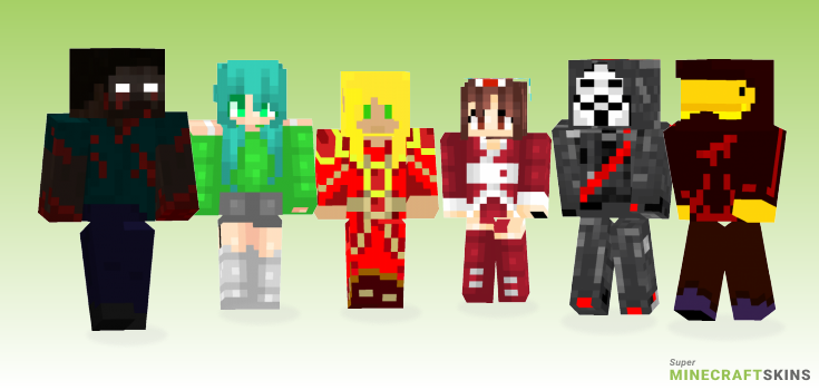 Blood Minecraft Skins - Best Free Minecraft skins for Girls and Boys