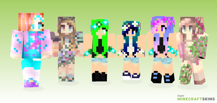 Bloom Minecraft Skins - Best Free Minecraft skins for Girls and Boys