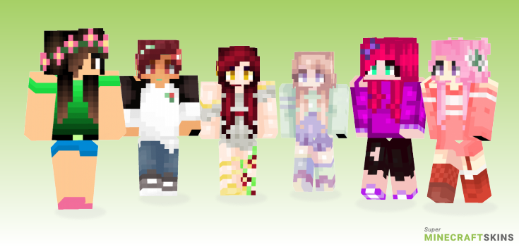 Blooming Minecraft Skins - Best Free Minecraft skins for Girls and Boys