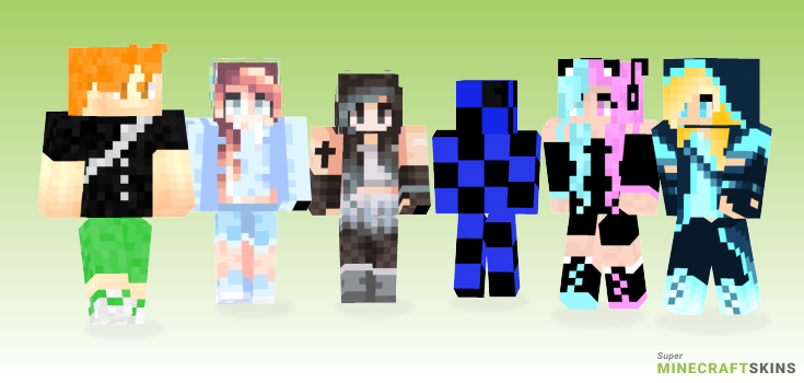 Blue Minecraft Skins - Best Free Minecraft skins for Girls and Boys