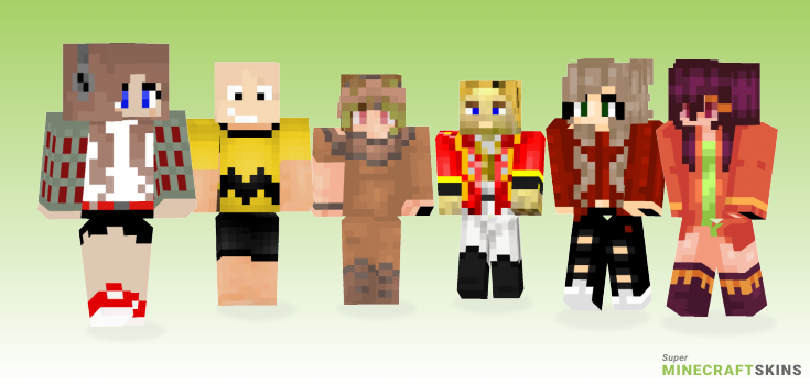 Brown Minecraft Skins - Best Free Minecraft skins for Girls and Boys