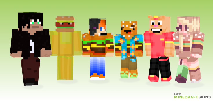 Burger Minecraft Skins - Best Free Minecraft skins for Girls and Boys