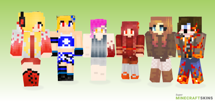Burning Minecraft Skins - Best Free Minecraft skins for Girls and Boys