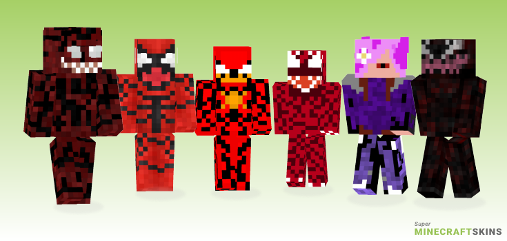 Carnage Minecraft Skins - Best Free Minecraft skins for Girls and Boys