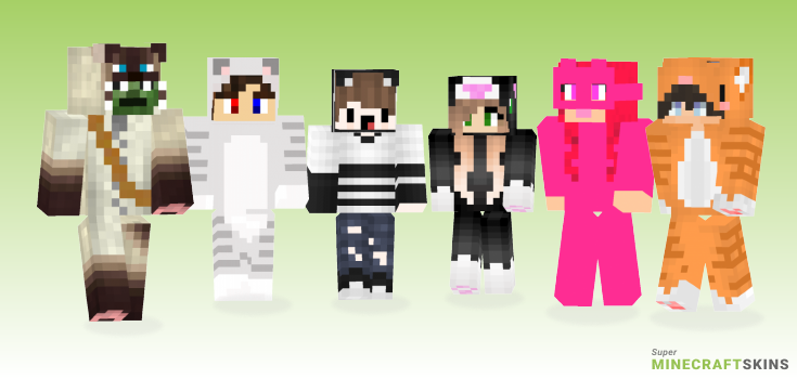 Cat costume Minecraft Skins - Best Free Minecraft skins for Girls and Boys