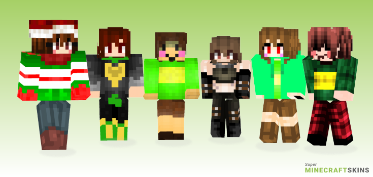 Chara Minecraft Skins - Best Free Minecraft skins for Girls and Boys