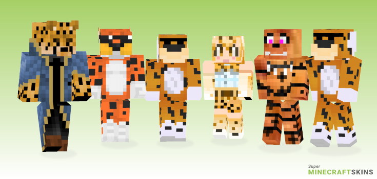Cheetah Minecraft Skins - Best Free Minecraft skins for Girls and Boys