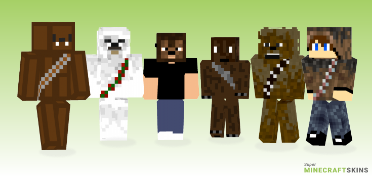 Chewbacca Minecraft Skins - Best Free Minecraft skins for Girls and Boys