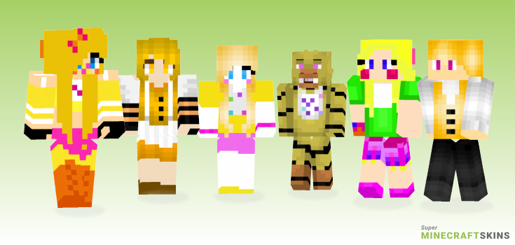 Chica Minecraft Skins - Best Free Minecraft skins for Girls and Boys