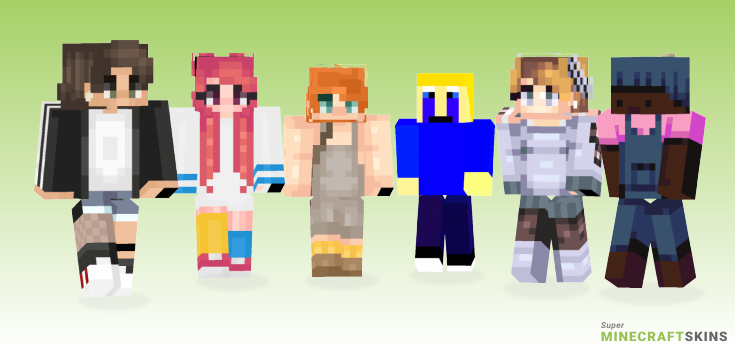 Child Minecraft Skins - Best Free Minecraft skins for Girls and Boys