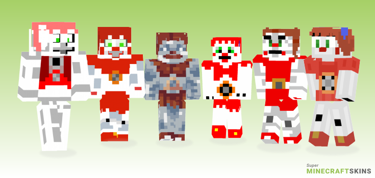 Circus baby Minecraft Skins - Best Free Minecraft skins for Girls and Boys