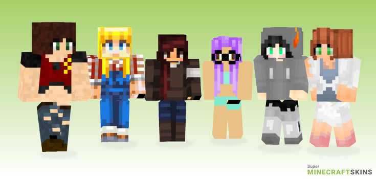 Claire Minecraft Skins - Best Free Minecraft skins for Girls and Boys