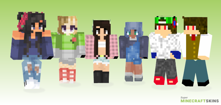 Close Minecraft Skins - Best Free Minecraft skins for Girls and Boys