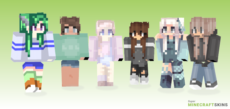 Cloudy Minecraft Skins - Best Free Minecraft skins for Girls and Boys