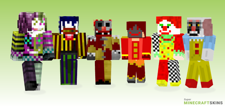 Clown Minecraft Skins - Best Free Minecraft skins for Girls and Boys