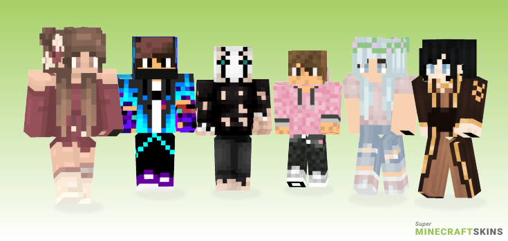 Colored Minecraft Skins - Best Free Minecraft skins for Girls and Boys