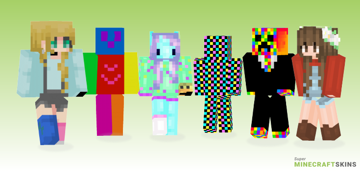 Colorful Minecraft Skins - Best Free Minecraft skins for Girls and Boys