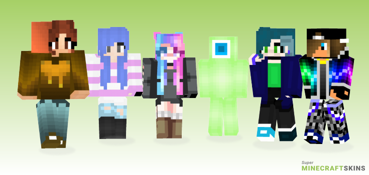 Colors Minecraft Skins - Best Free Minecraft skins for Girls and Boys