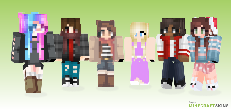 Coming Minecraft Skins - Best Free Minecraft skins for Girls and Boys