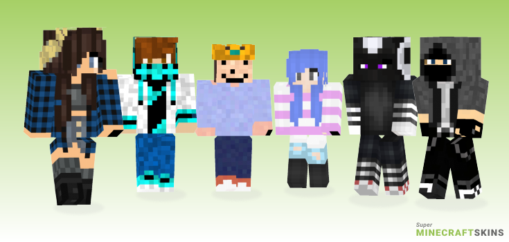 Cool Minecraft Skins - Best Free Minecraft skins for Girls and Boys