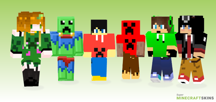 Creeper Minecraft Skins - Best Free Minecraft skins for Girls and Boys