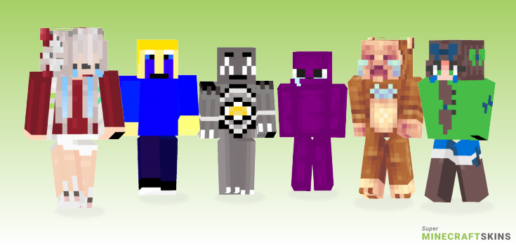 Crying Minecraft Skins - Best Free Minecraft skins for Girls and Boys