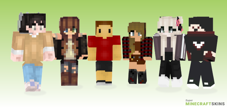 Current Minecraft Skins - Best Free Minecraft skins for Girls and Boys