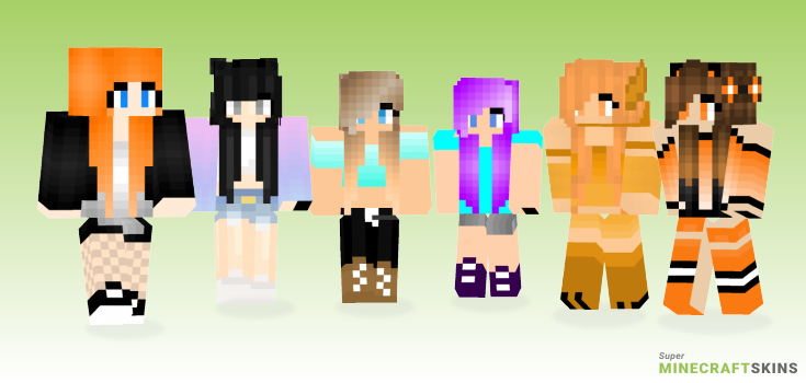 Cute Minecraft Skins - Best Free Minecraft skins for Girls and Boys