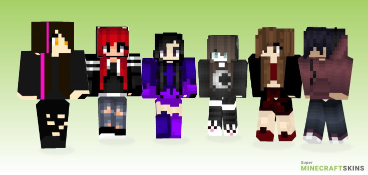 Dark Girl Minecraft Skins Download For Free At