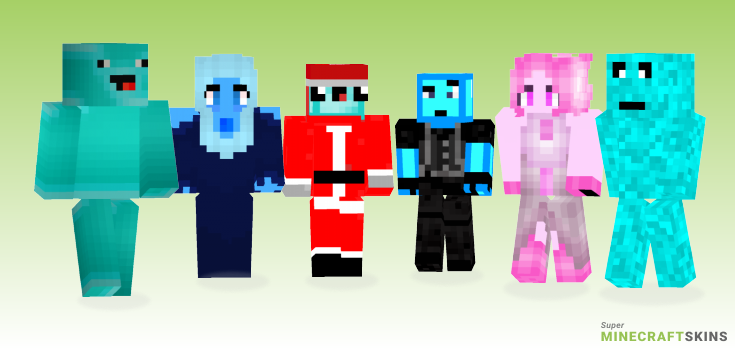 Diamond Minecraft Skins - Best Free Minecraft skins for Girls and Boys