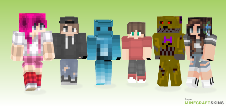 Different Minecraft Skins - Best Free Minecraft skins for Girls and Boys