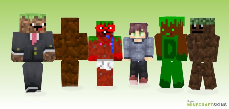 Dirt Minecraft Skins - Best Free Minecraft skins for Girls and Boys