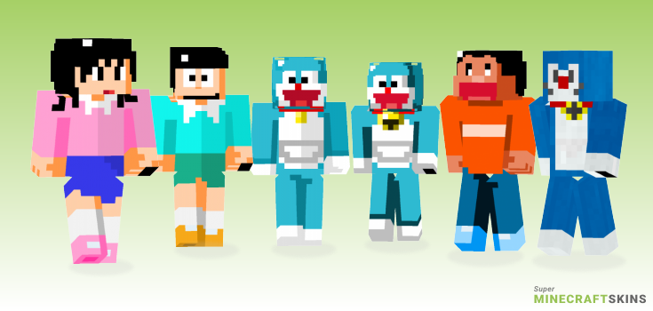 Doraemon Minecraft Skins - Best Free Minecraft skins for Girls and Boys