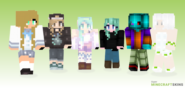 Drop Minecraft Skins - Best Free Minecraft skins for Girls and Boys