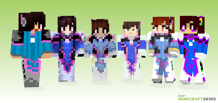 Dva Minecraft Skins - Best Free Minecraft skins for Girls and Boys